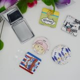 Small PU Pocket Mirror Custom Design Pocket Mirror