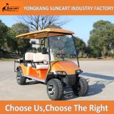 Wholesale 4+2 Seaters Electric Golf Cart, Golden Cart Body, Strong 6 Passenger Electric Car with Rear Seater Used in Farm
