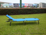 Outdoor Metal Folding Ajustable Camping Bed