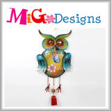 New Promotion Fall Havest Glitter Owl Metal Wall Decor