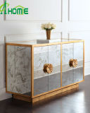 Luxury Home Decor Mirror Furniture Two Doors Glass Chest