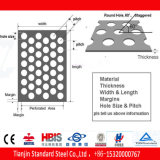 Stainless Steel Plate Perforated 304 201 316 3mm 4mm Aperture