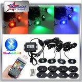 RGB Rock Light Under The Car Light 4 Pods Kit