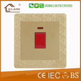 Wenzhou Factory 32A 1 Gang D/P Switch with Neon
