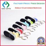 Fashion Popular Fabric Shoe Keyrings