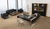 Modern Furniture Wooden Leather Office Desk (V30A)
