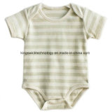 Newborn Short Sleeve Striped 100% Organic Cotton Baby Clothing Wholesale One Piece Rompers Bodysuit for Summer