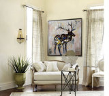 Modern Abstract Elk Mounted Decorative Wall Painting