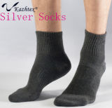 Professional Climbing Silver Fiber Cotton Socks for Men