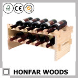 8 Bottle Simple Style Wine Shelf for Display
