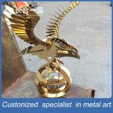 Golden 8k Mirror Eagle Stainless Steel Decoration Handicrafts for Display/Exhibition