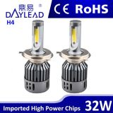 Wholesale High Efficiency Light LED Headlight for Auto H4 Double Beam