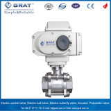 Welding Connection Stainless Steel 3 PC Electric Proportional Ball Valve