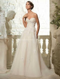 New Sweetheart Corset Bodice Lace Wedding Bridal Dresses
