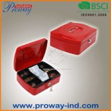 High Quality Metal Cash Box with Additional Storage