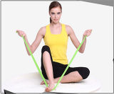 SGS Certificate 100% Nature Latex Rubber Resistance Band for Yoga