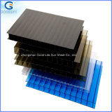Two Layers Hollow PC Corrugated Plastic Roofing Sheets