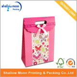 Flower Printing Pink Bowknot Gift Packing Paper Bag (QY150258)