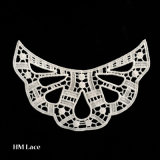 100% Polyester Fabric Lace Peony Embroidery Fashion Lace Collar/Lace Applique Motif X028