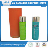 with Metal End Cap Printing Logo Cylinder Round Cosmetic Box Gift Tube Paper
