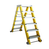 (375LBS) 35kv Fiberglass Portable and 6 Step Ladder