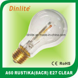 A60-8(ACR)-E27-Clear and Golden Rustika Bulb