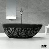 Black Solid Surface Modern Stone Bathroom Bathtub