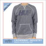 Men Vintage Cotton Crew Neck Sweatshirt with Kangaroo Pockets
