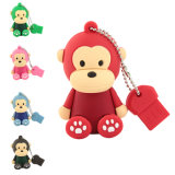 Monkey Design PVC Material USB Flash Drive 2GB 4GB