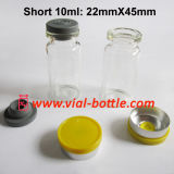 8ml/Short 10ml Steroids Glass Bottles Whole Set W/ Butyl Rubber Stoppers and Yellow Glossy Flip off Lids