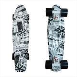 22inch PP Mini Skateboard Cruiser Complete Skateboards Banana Skateboard Newspaper Design-21