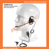 D Shape Earphone with Boom Microphone Suitable for Either Ear