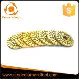 "5"" Resin Bond Diamond Floor Edge Polishing Pad for Concrete"