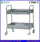 Hospital Furniture Multi-Function Stainless Steel Medical Delivery Trolley