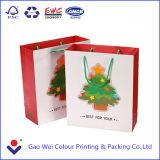 2016 China Factory Professional Custom Printed Hot Sale Christmas Shopping Paper Bag