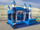 Hot Sale Inflatable Bouncy Castles with Slide, Frozen Bounce House Slide
