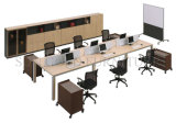 Linear Call Center Office Furniture Workstation Wooden Partition