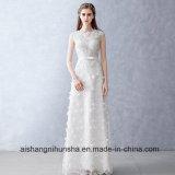 Lace Flower Wedding Dress Beading Sleeveless Long Custom Made