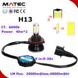LED Car Headlight Kit 40W 4000lm H13 Auto Lamp