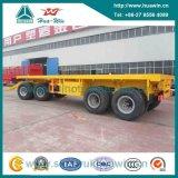 Sinotruk Huawin 4 Axle Flat Bed Pulling Trailer