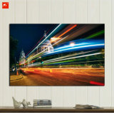 Shinning City Downtown Night Cotton Canvas Oil Painting