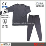 Cotton Flame Retardant En11612 Protective Fr Knitted Underwear