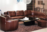 Home Modern Living Room Furniture Leather Sofa (UL-NS040)