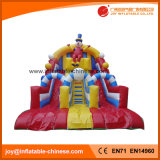 2017 Popular Inflatable Toy Double Lane Clown Slide (T4-259)