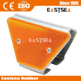 Yellow Double Side Trapezoid Guardrail Highway Road Reflector