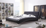 Luxury Furniture Double Leather Beds for Bedroom Furniture (HCC316)