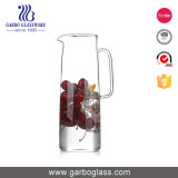 Large 1600ml Clear Glass Water Jug with Handle