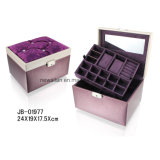 Handmade Leather PU Packaging Display Jewellery Box Jewelry Case