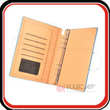 Custom Embossed Logo PU Ring Binder Agenda Folder