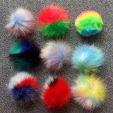 Wholesale Faux Fur Pompom with Beanie Hat Multi Color